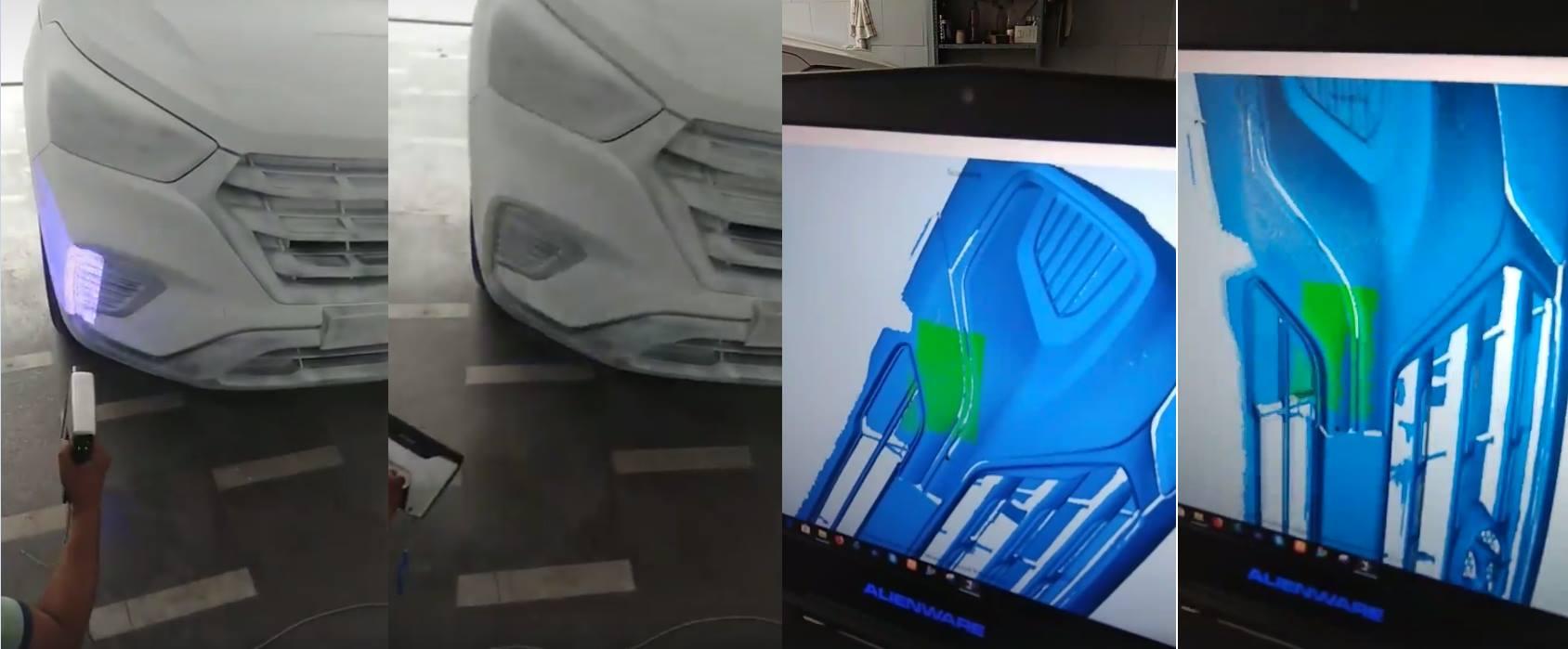 Nitin Jhamb Using the Einscan Pro 3D Scanner For Hyundai Cars.