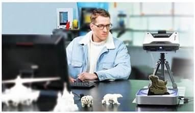 Máy quét 3D Einscan Pro plus là máy quét 3D đa năng. Quét con rùa trên máy scan 3D - máy quét 3D Einscan Pro Plus thực hiện bởi shining3d...