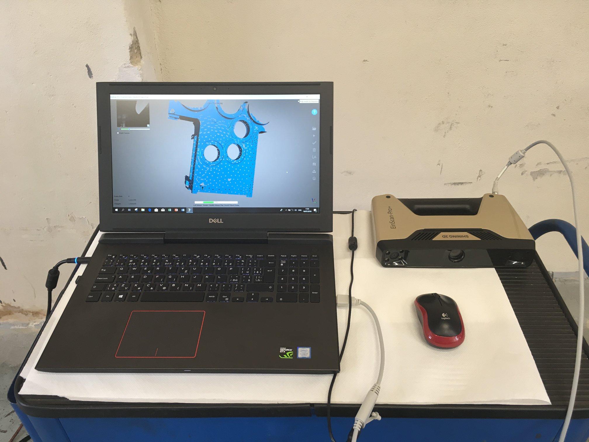 Scan 3D chi tiết máy lớn sử dụng máy quét 3D Einscan Pro Plus là một ứng dụng khá mới. Từ trước tới nay Scan 3D chi tiết máy lớn người ta thường dùng...
