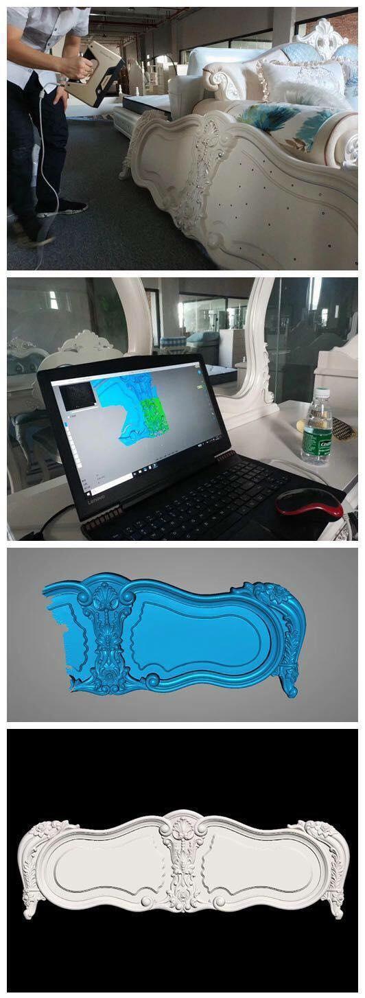 Quét 3D mẫu giường chất lượng cao bằng máy quét 3d cầm tay.