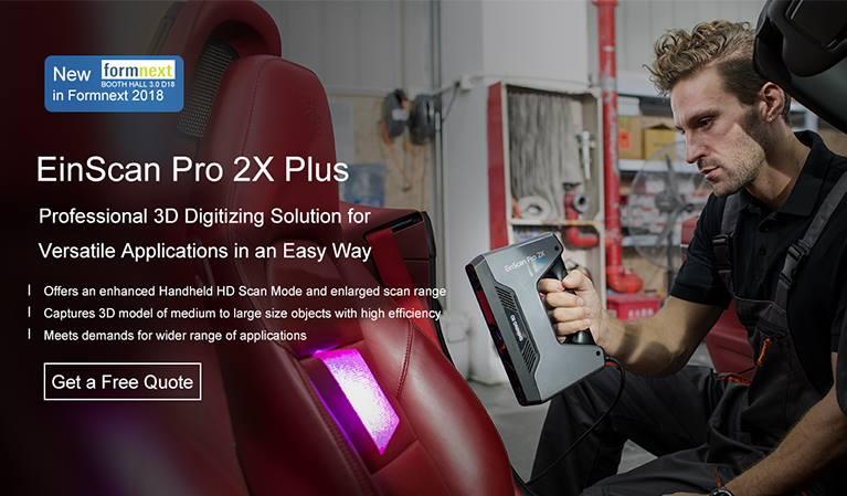 Máy quét 3D Einscan Pro 2X & Einscan Pro 2X Plus được phát triển từ dòng máy Einscan Seri của hãng Shining 3D. Đáp ứng những nhu cầu về quét cố định, quét cầm tay, quét tự động, quét 3d màu. Einscan pro 2X seri kỳ vọng mang tới những trải nghiệm tuyệt vời cho người dùng ở VietNam và trên toàn thế giới.